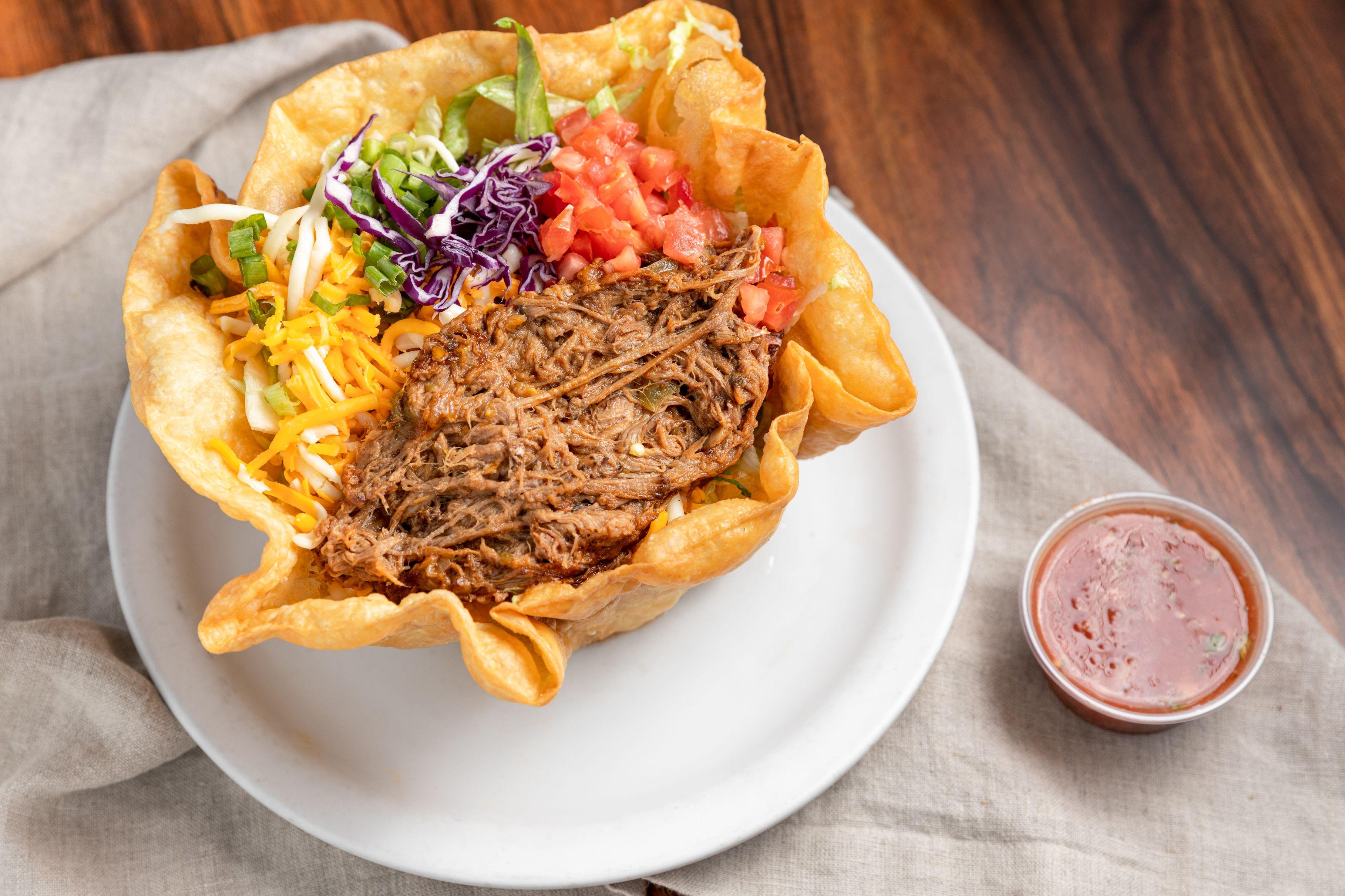Beef or Chicken Tostada Salad