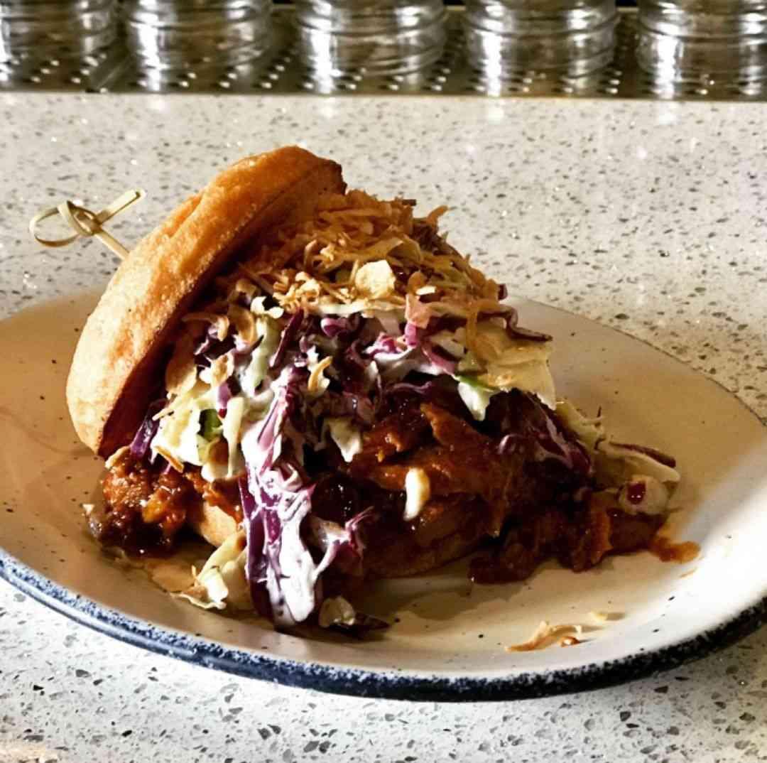 BBQ Smoked Brisket Sandwich