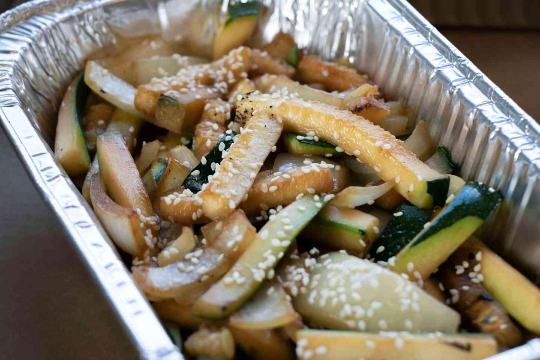 Hibachi Onions & Zucchini