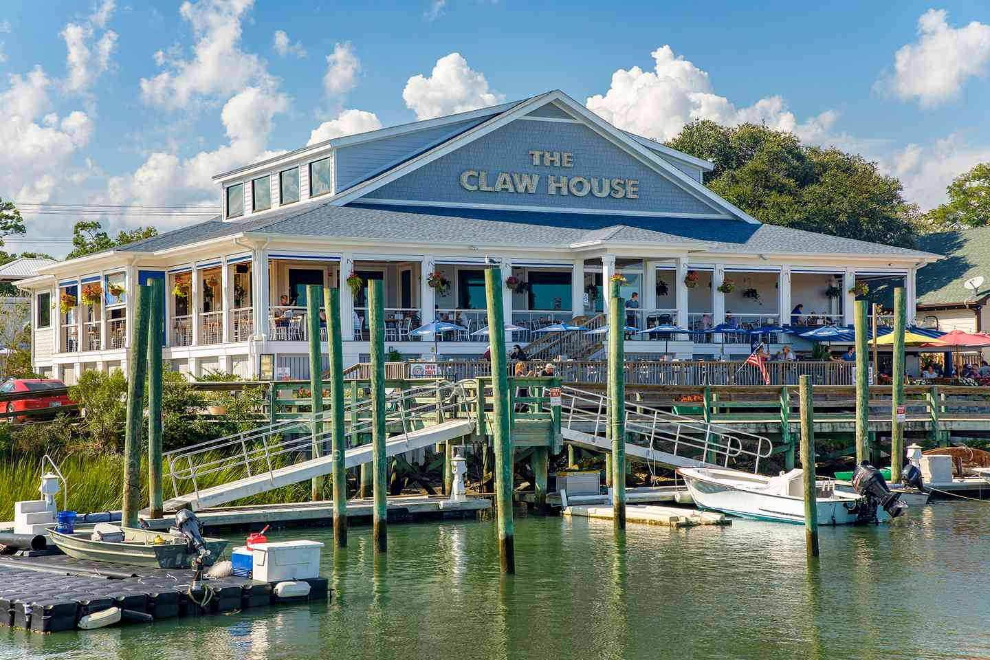 Lake front view of the Claw House