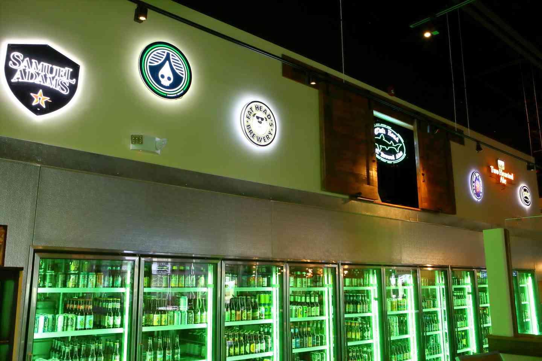 fridge of beers