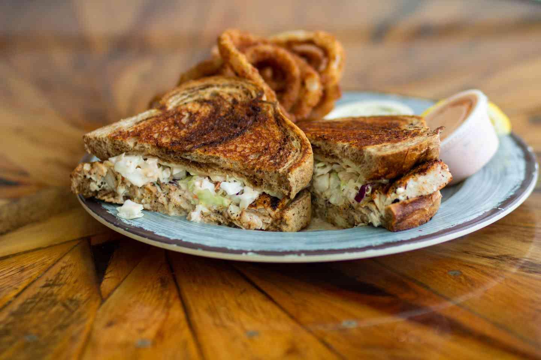 Mahi Reuben Sandwich