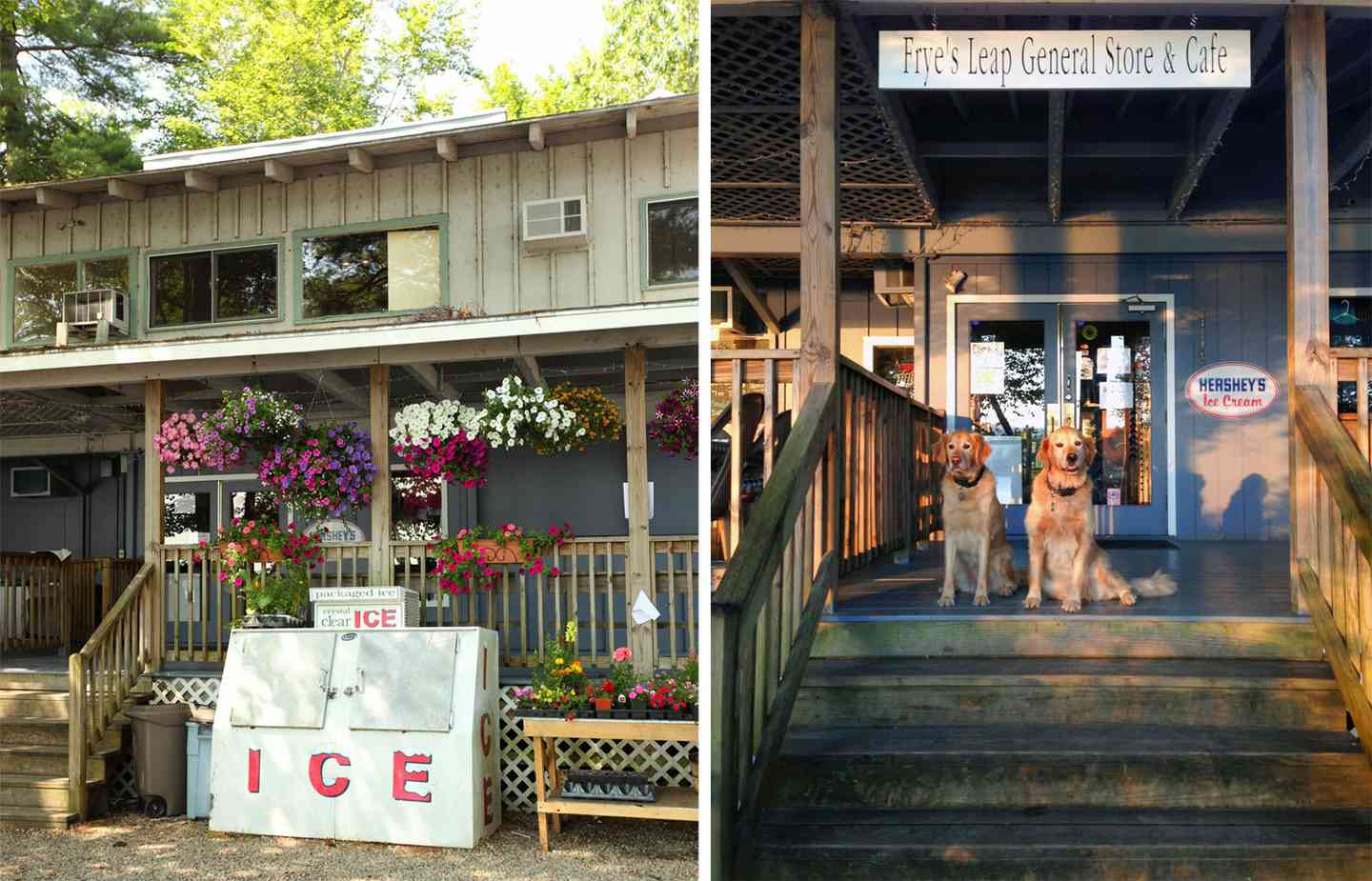 front and back of store