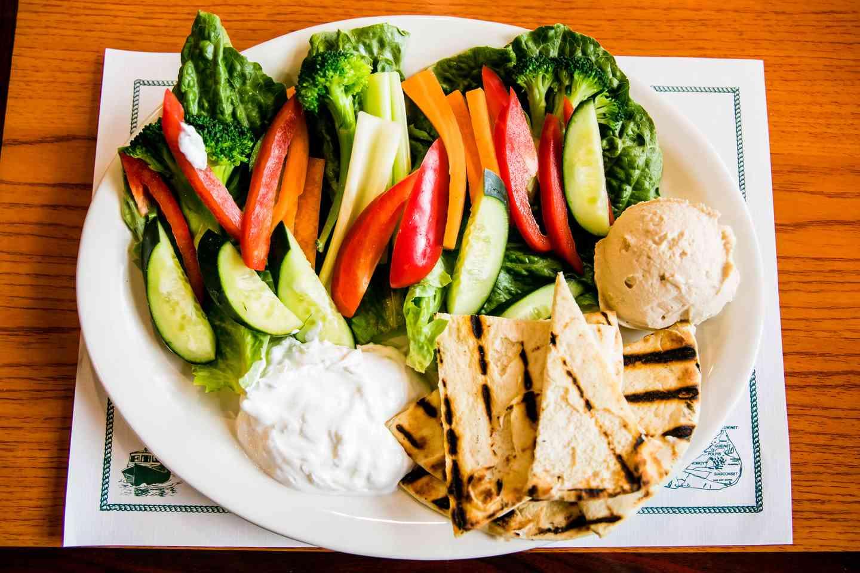 Hummus and Tzatziki Dip