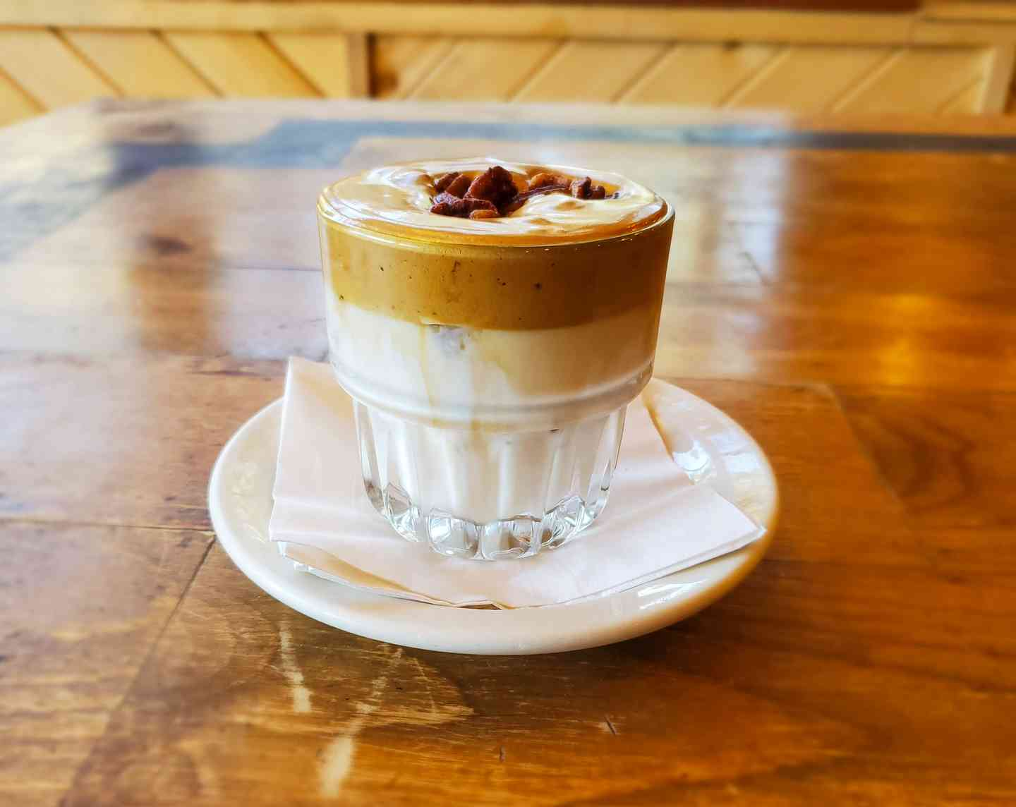 Whipped Coffee with Candied Pecans