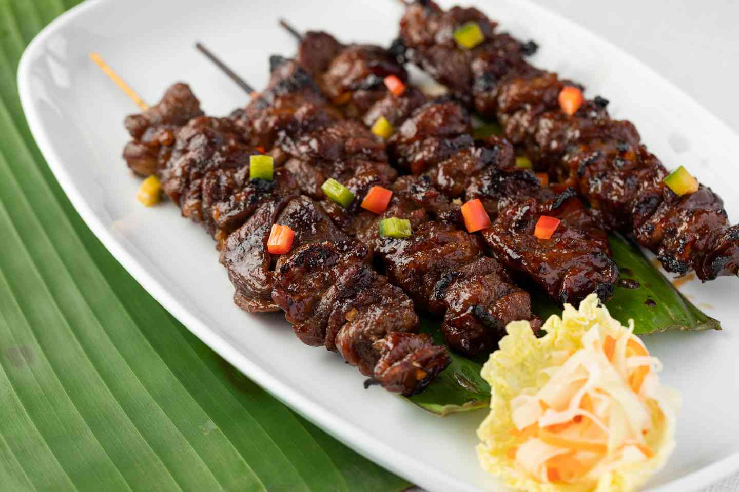 Filipino Pork Barbeque Skewer