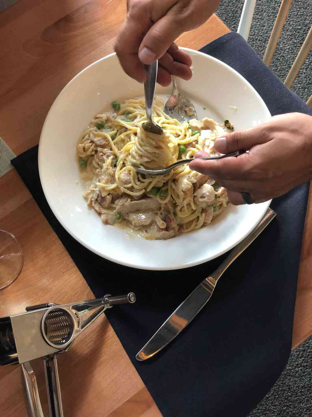 Rotisserie Chicken Carbonara