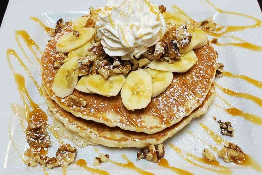 Banana Walnut French Pancakes