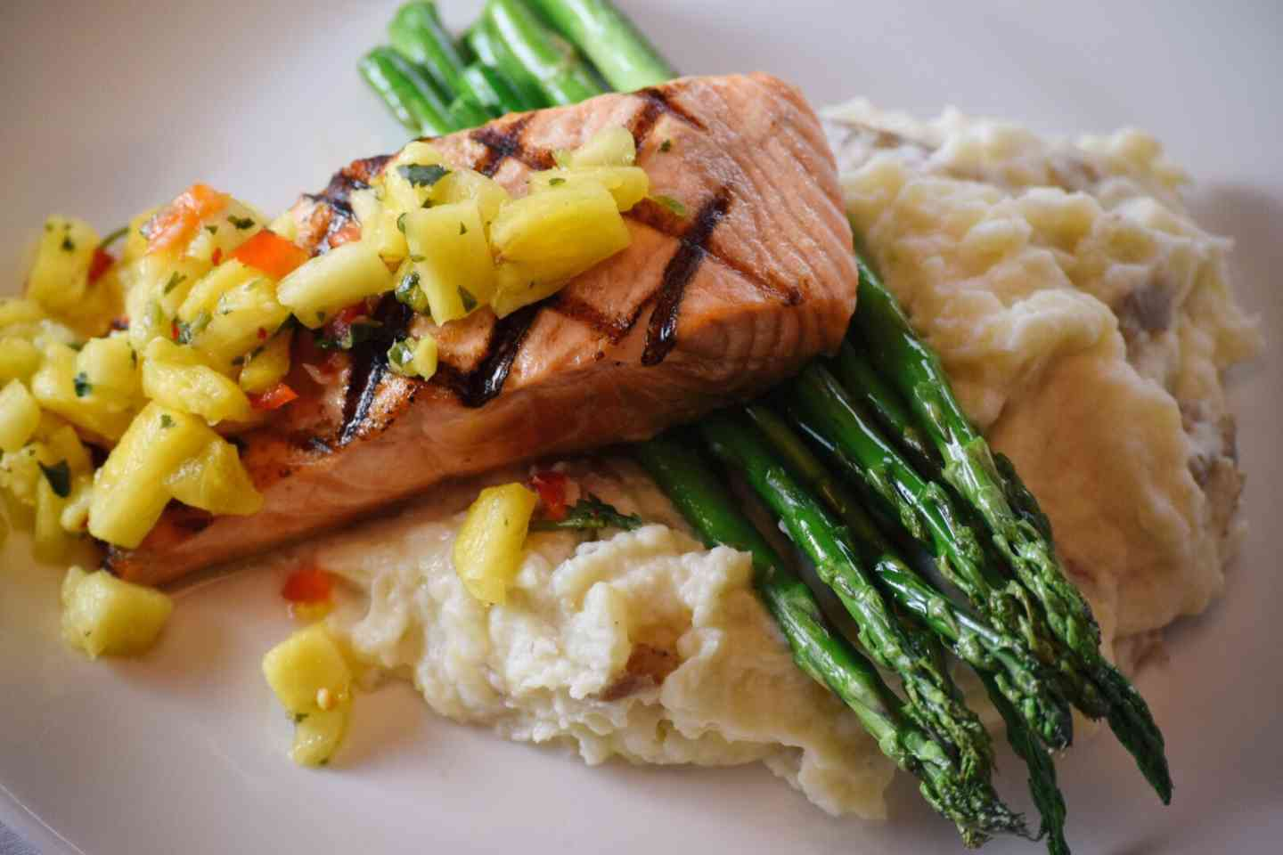 Tropical Grilled Salmon