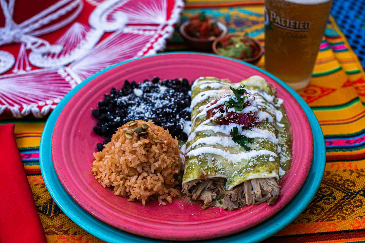 Chicken & Green Chile Enchilada