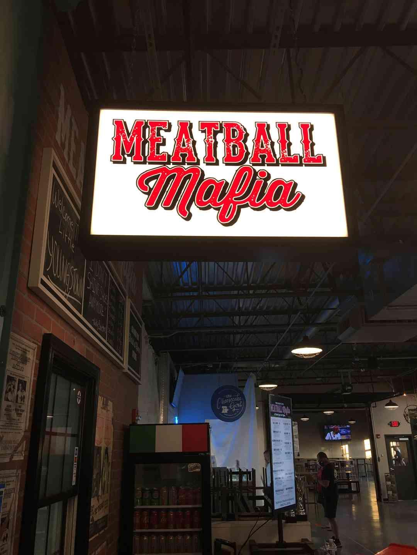 Meatball Mafia Sign