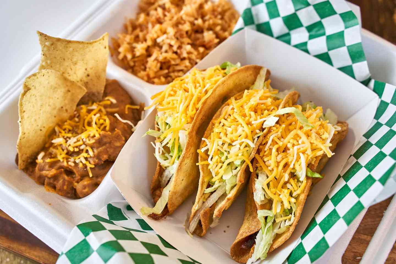 beef tacos meal