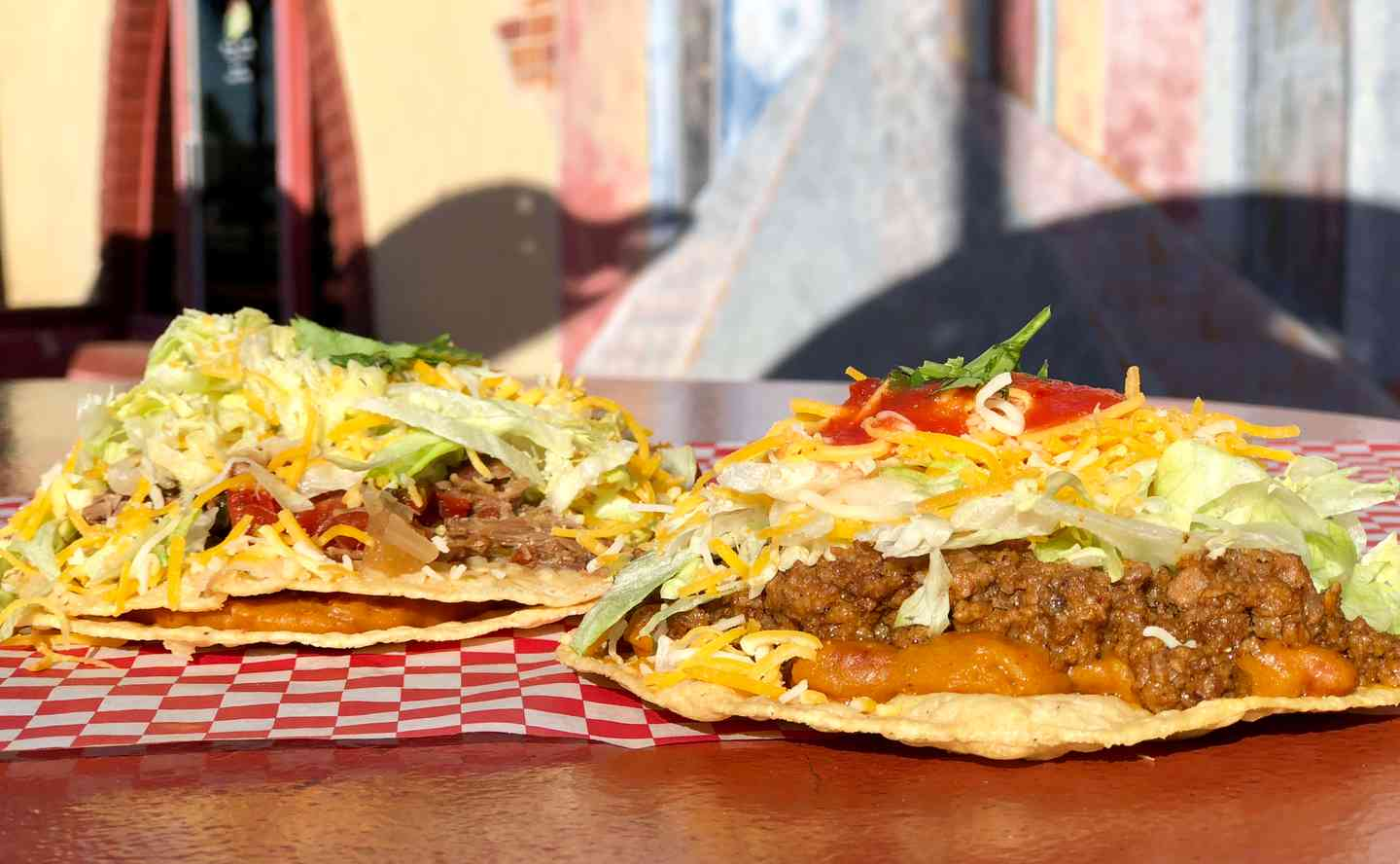 Ground Beef Tostada