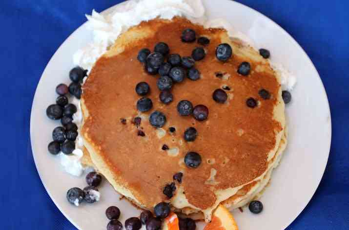 Buttermilk Pancakes W/ Fresh Blueberries
