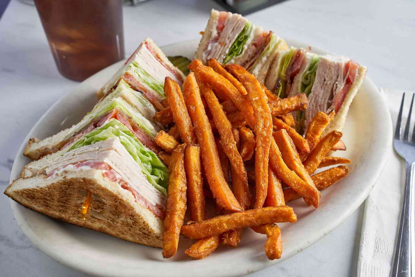 Turkey BLT Triple Decker Sandwich