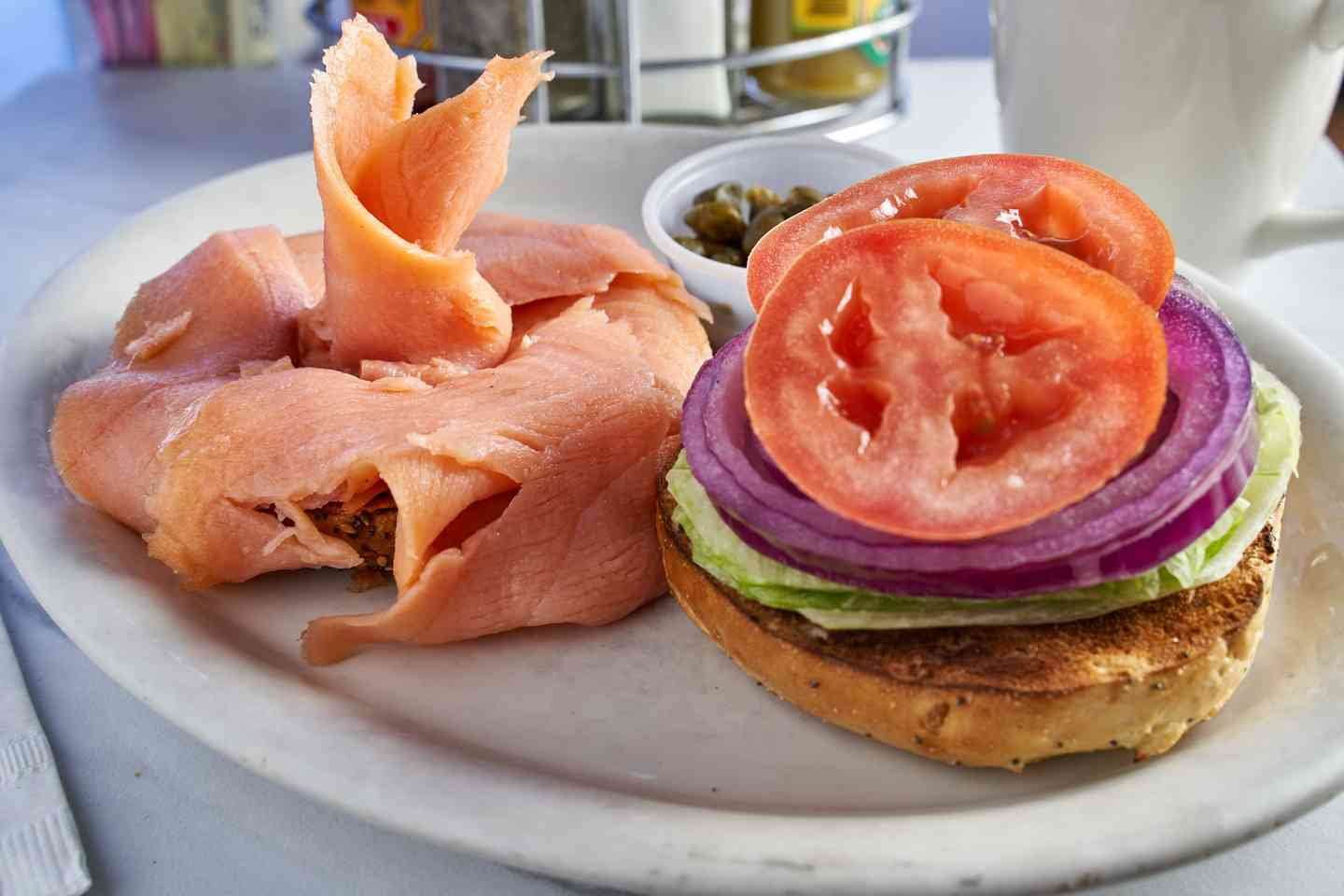 Nova Scotia Lox Bagel Sandwich