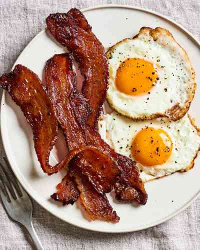Combo #2: Two Eggs with Toast and Bacon