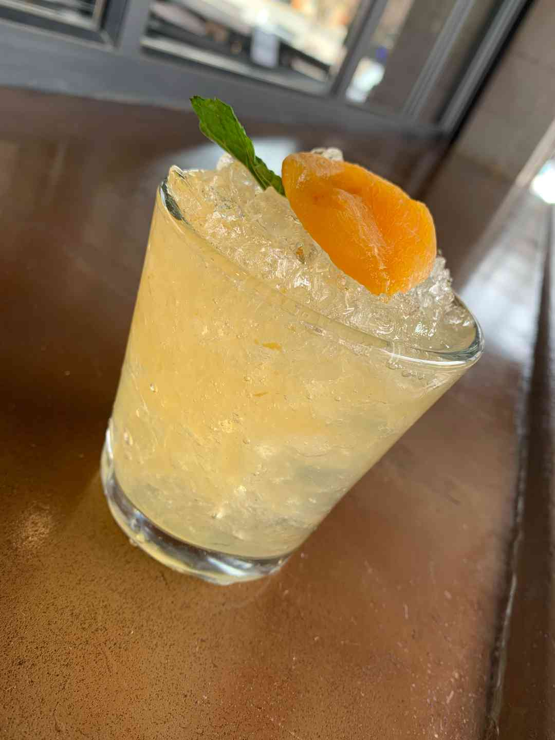 Apricot Whiskey Smash