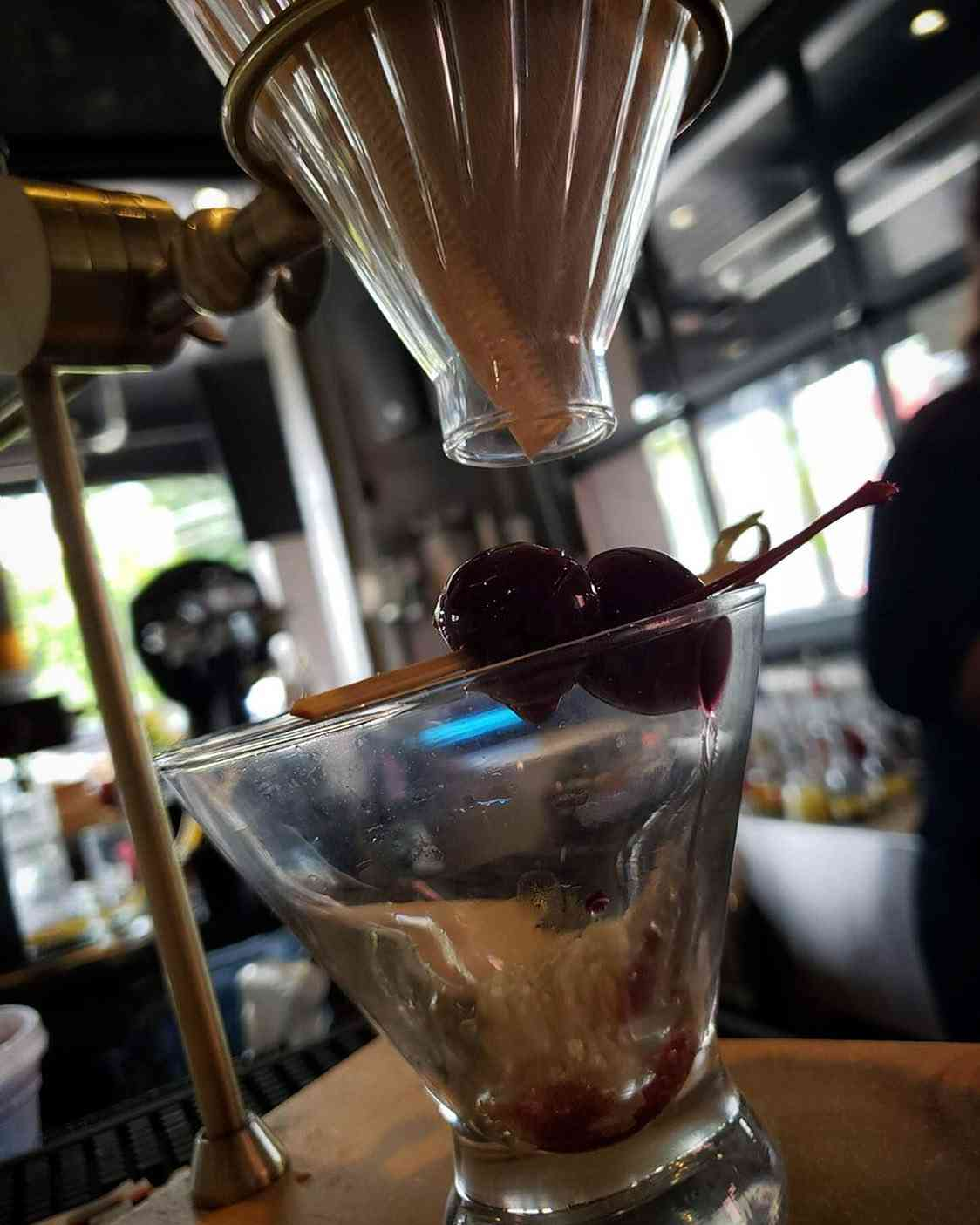 Coffee Infused Black Cherry Manhattan