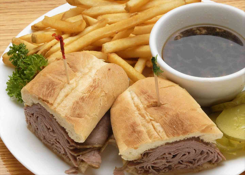 Hot French Dip Sandwich
