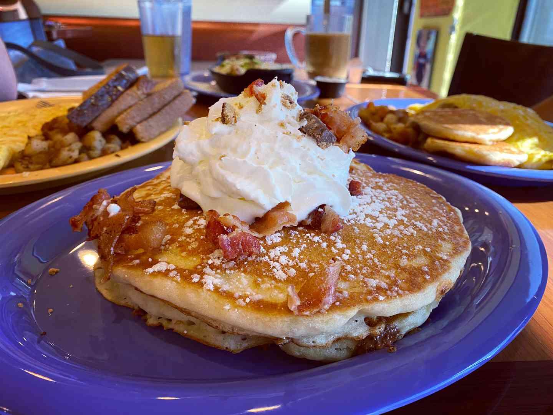 Homemade pancakes stack