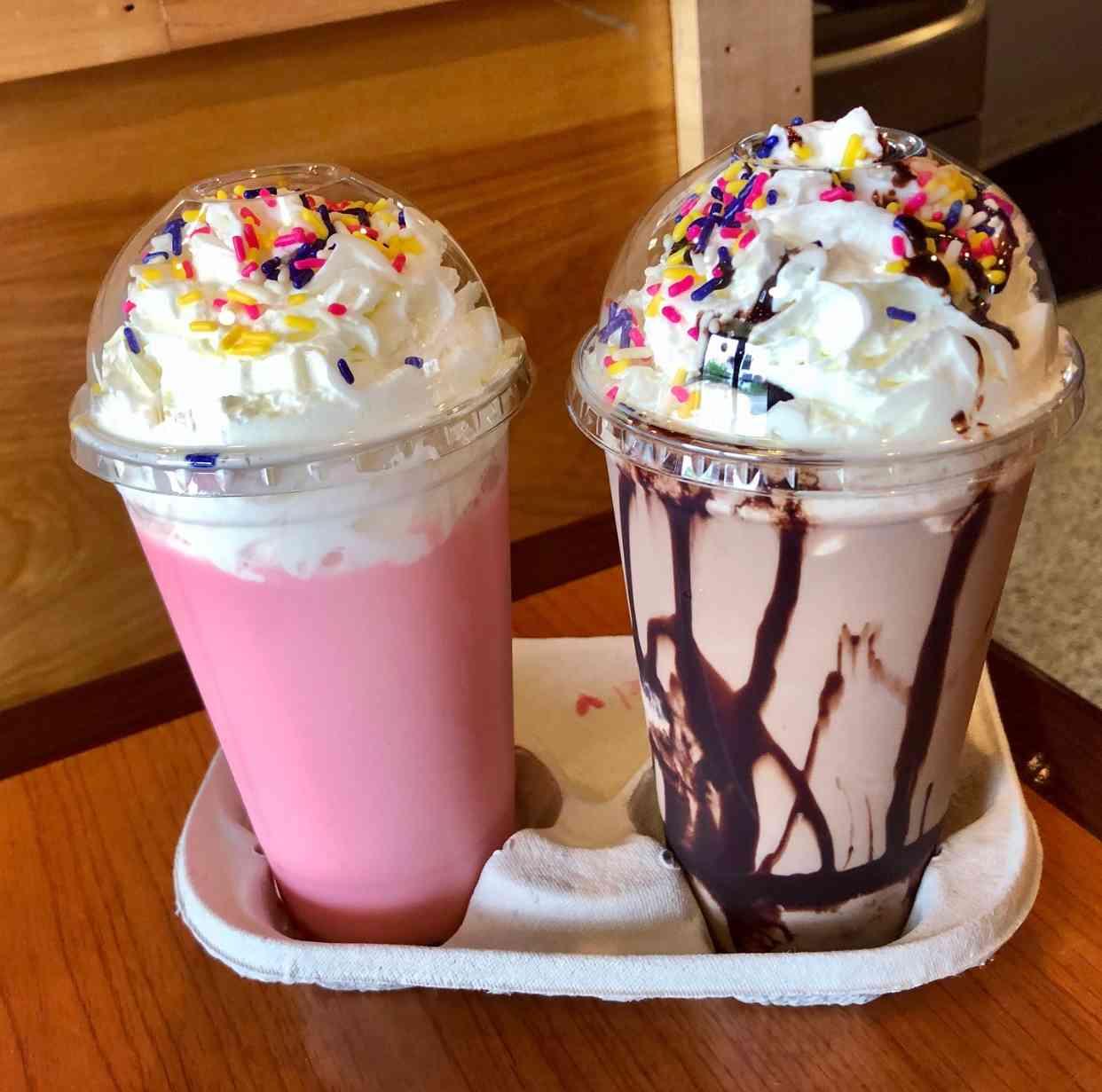 Milk Ice Cream Float