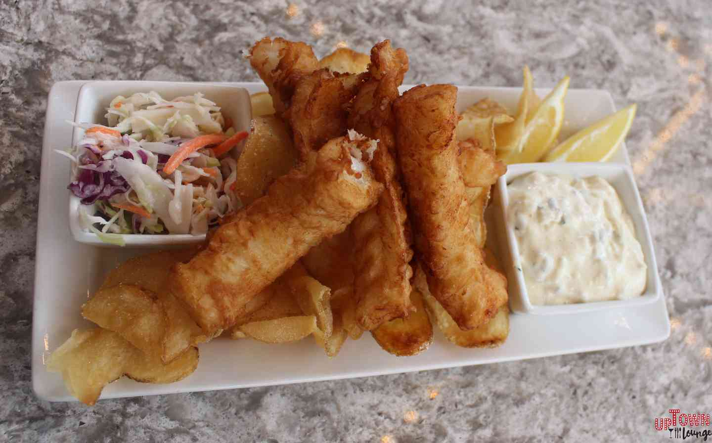 Line Caught Cod and Chips