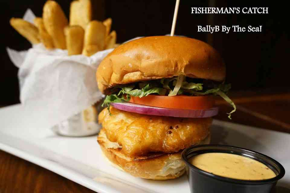 Cod Sandwich with Steak Fries