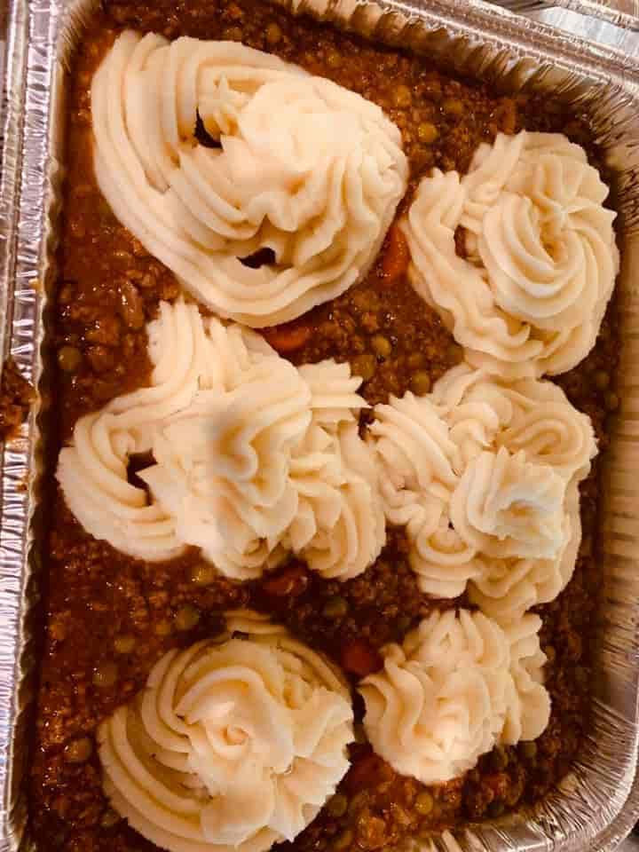 Family Style Sweet Shepherd's Pie & Rolls