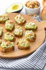 Mini Avocado Toast Bites