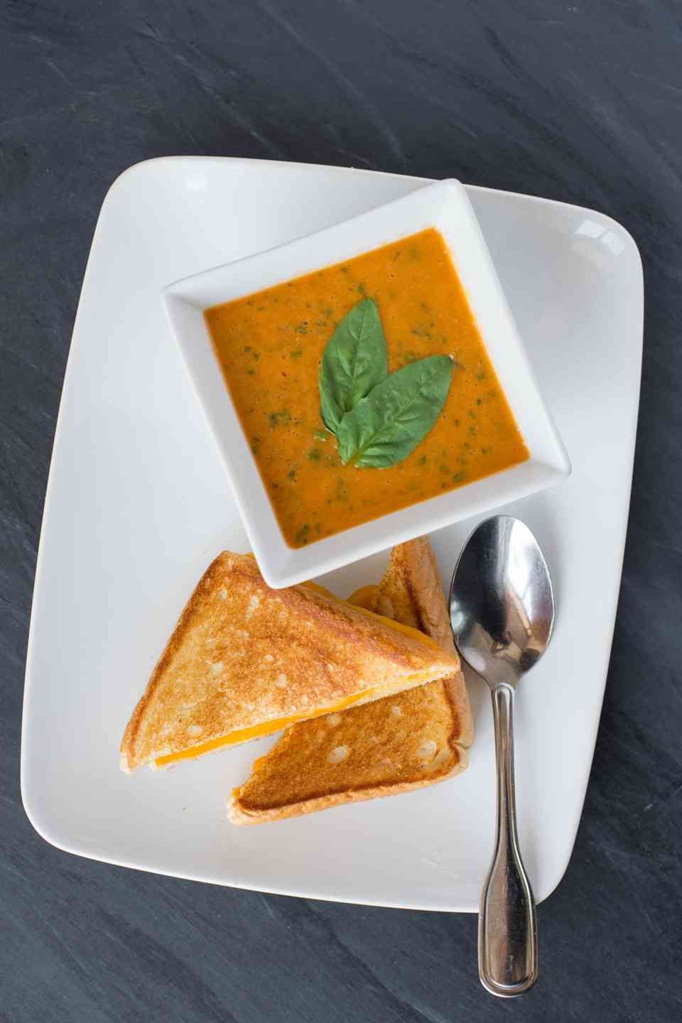 Grilled Cheese & Tomato Basil Soup