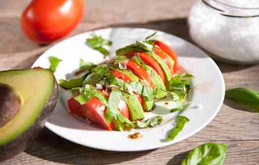 Heirloom tomato caprese