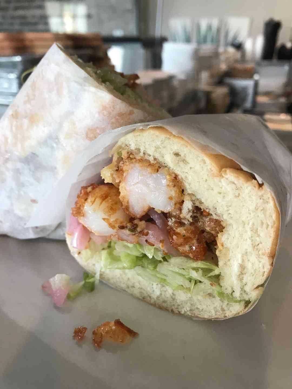 Crispy Shrimp Po'Boy