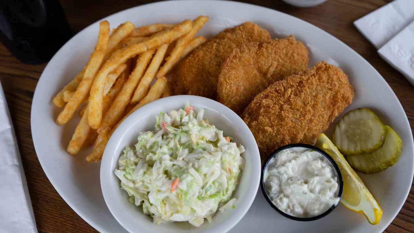 #17 Fish & Chips with French Fries & Cole Slaw