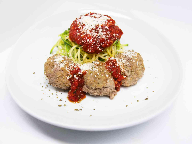 Greek beef meatballs