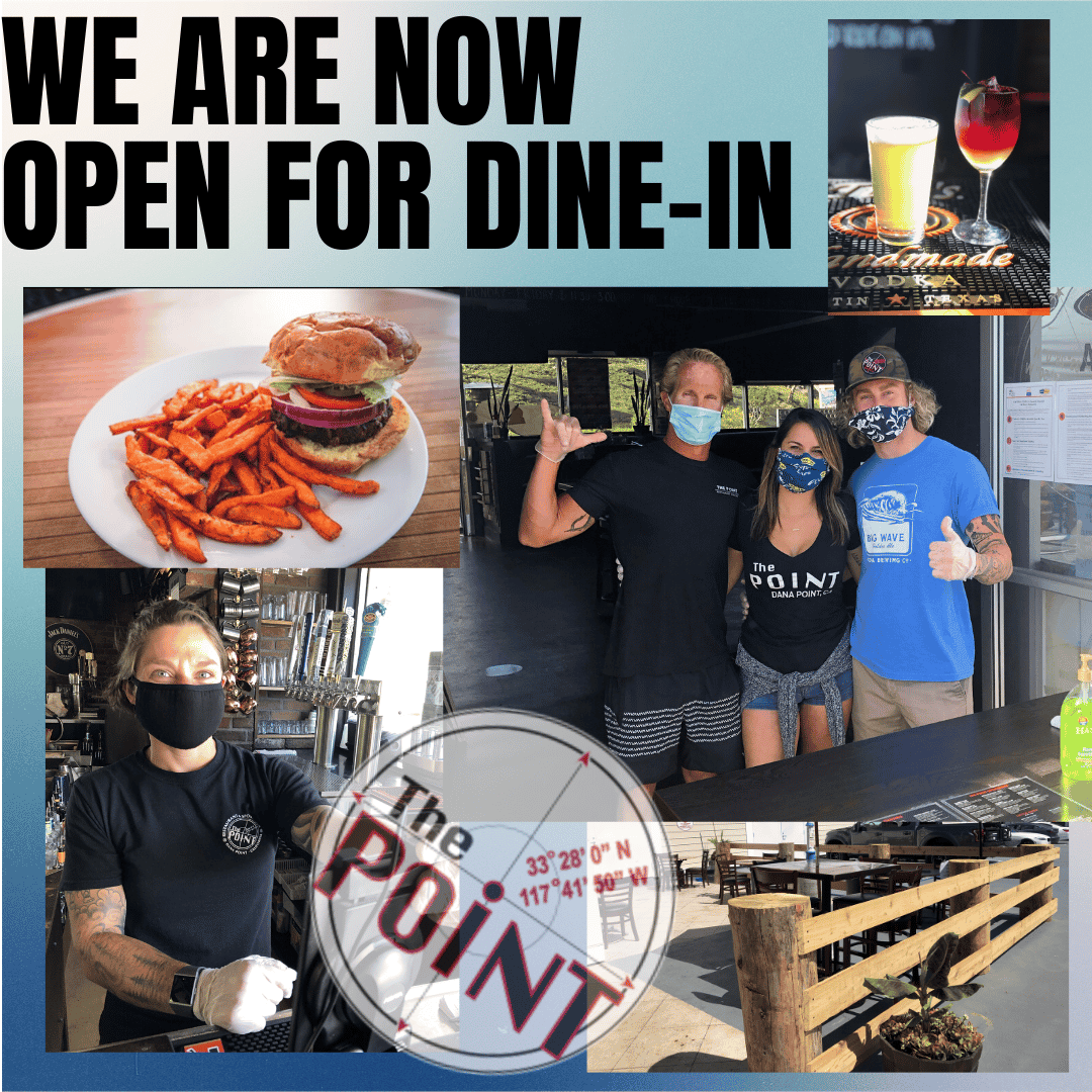 NOW OPEN FOR DINE IN!