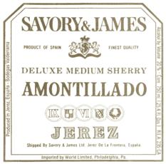 Savory & James, Amontillado Deluxe Medium Sherry Jerez-Xérès-Sherry