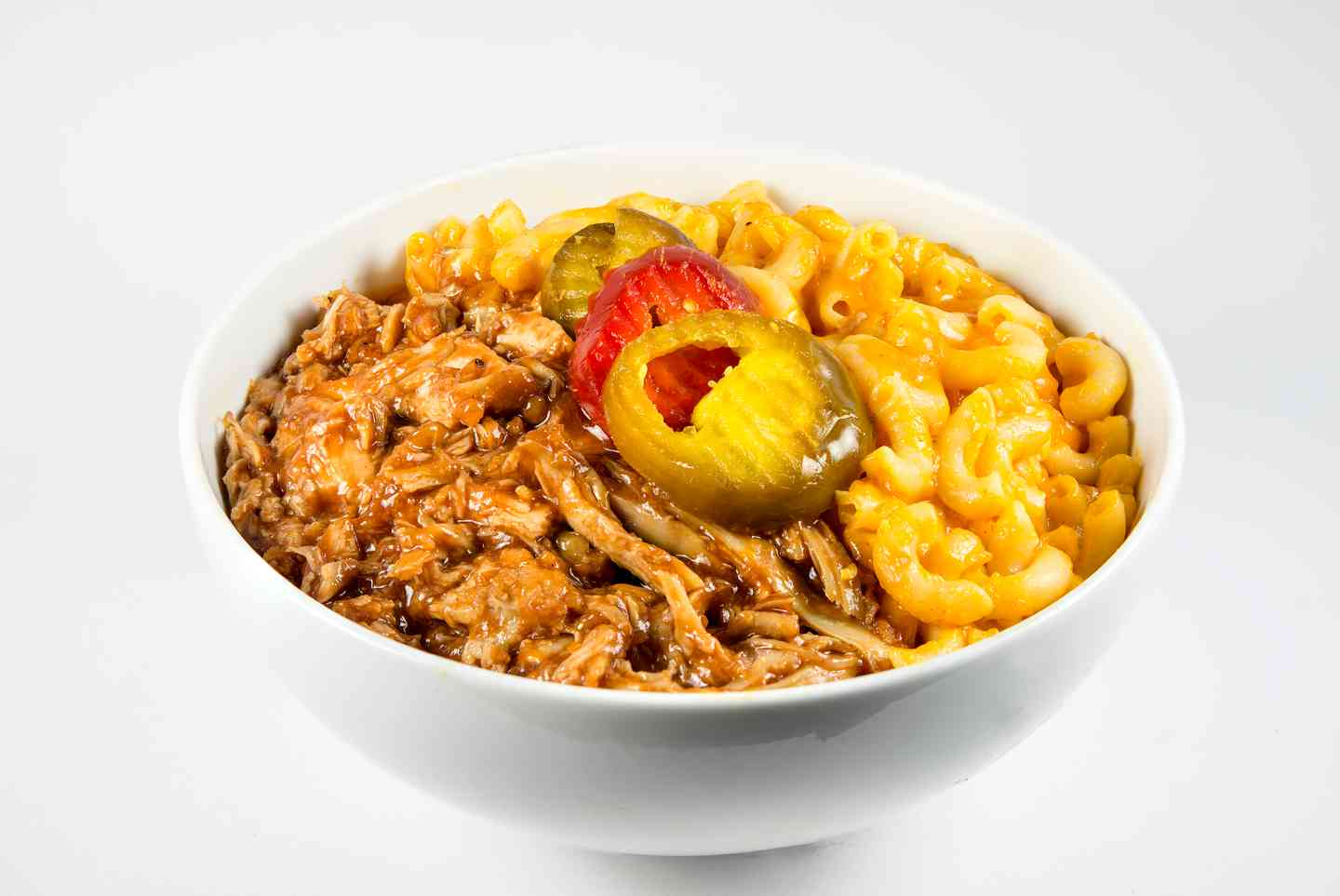 BBQ Pulled Chicken Mac & Cheese Bowl