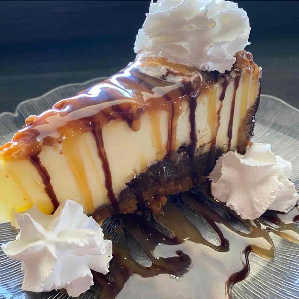 Chocolate Caramel Turtle Cheesecake