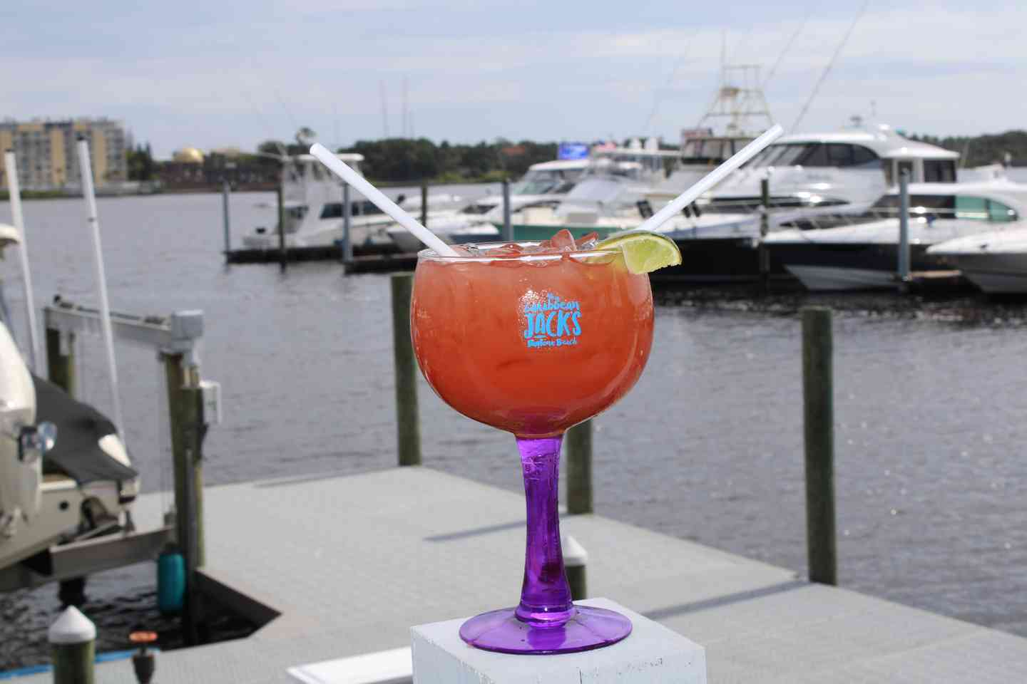 drink on the marina