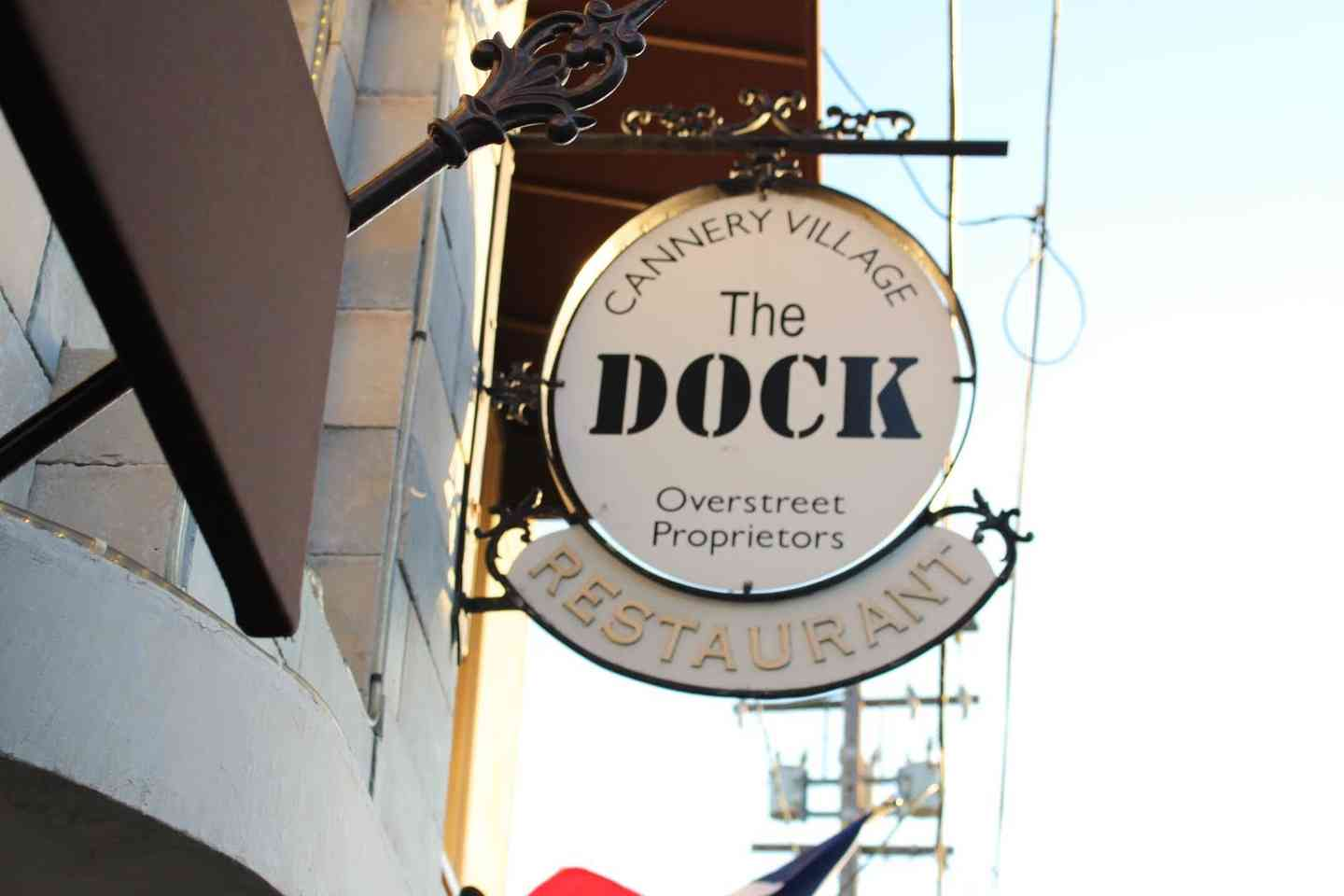 dock sign