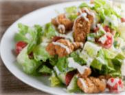 Popcorn Fired Chicken Salad