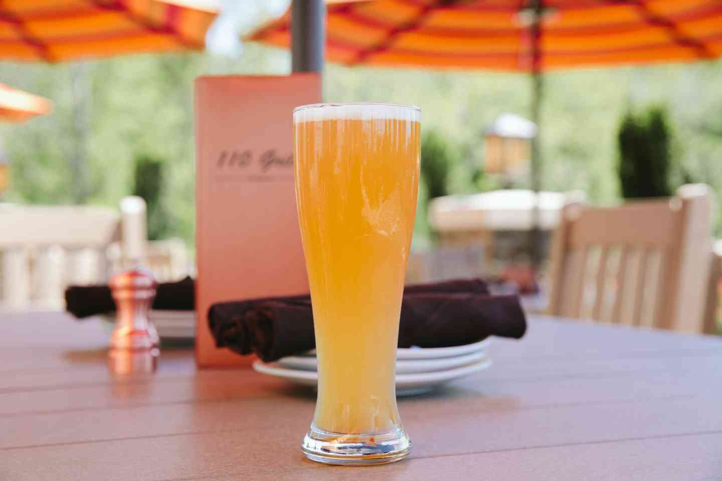 beer on patio