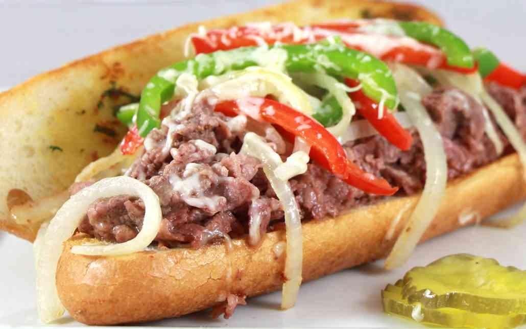 PHILLY CHICKEN OR STEAK SANDWICH
