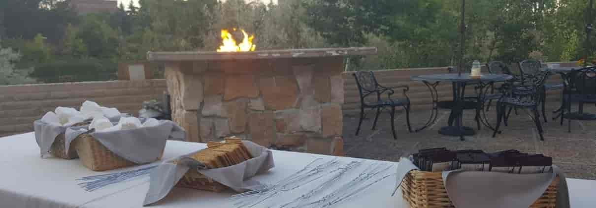 outside bonfire