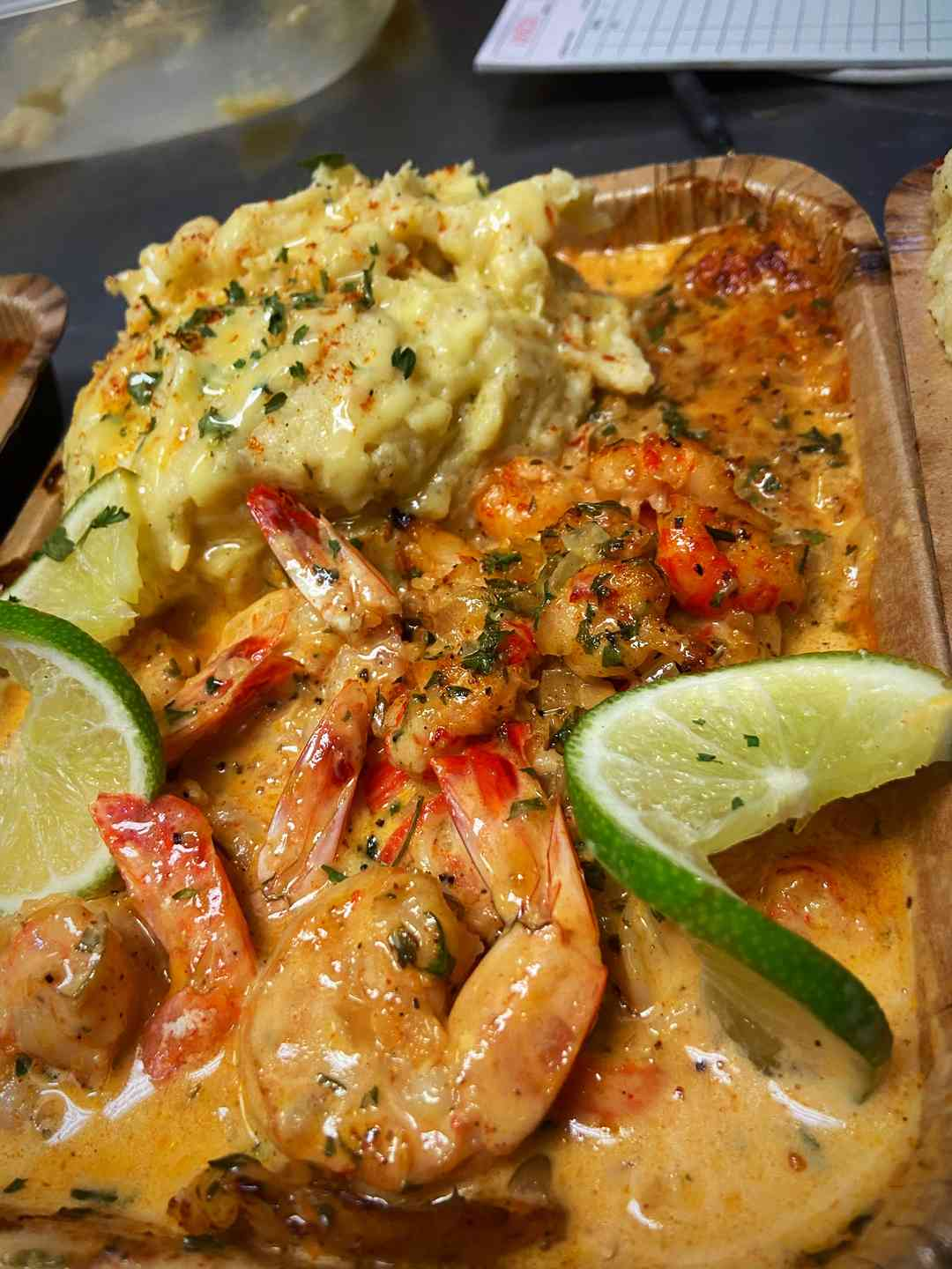 Cajun Cream Baked Fish & Gold Mash