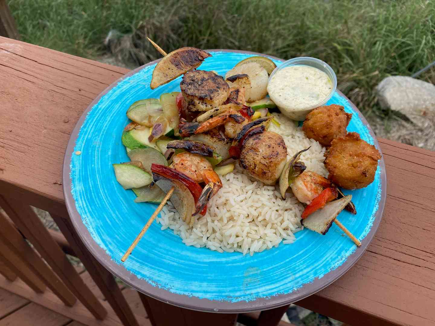 Shrimp and Scallop Kabob