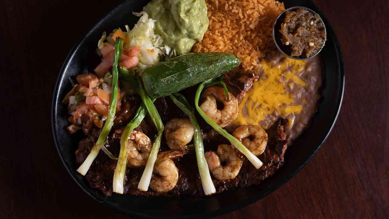 Carne Asada Ranchera & Shrimp
