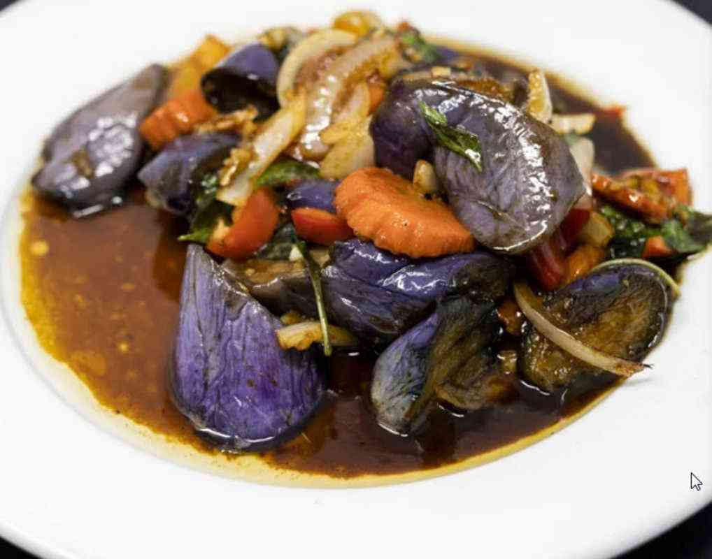 Spicy Eggplant-Vegan