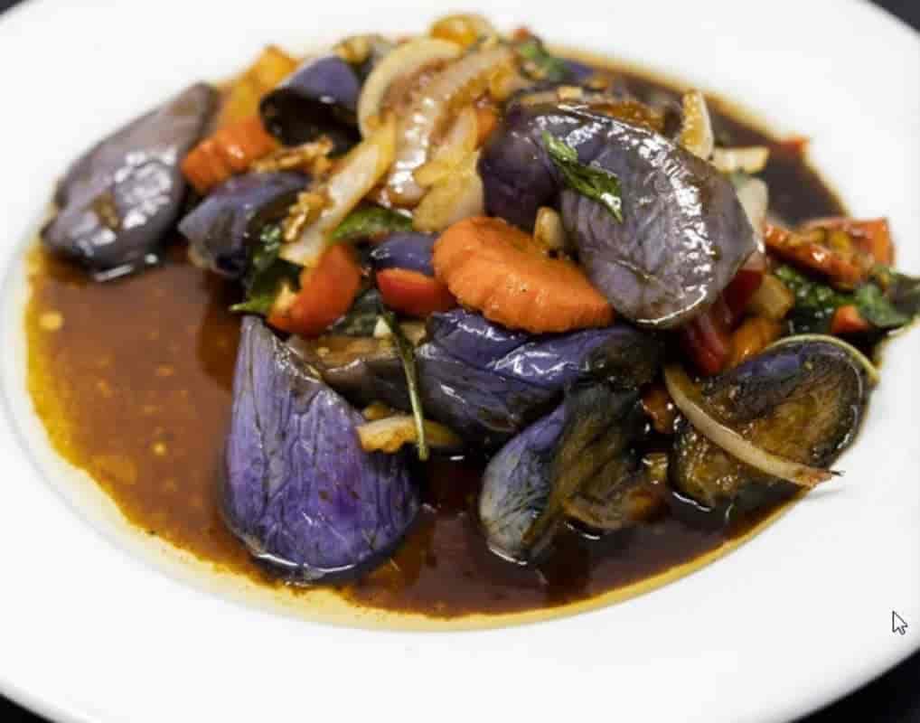 L7. Spicy Eggplant + Rice + Salad